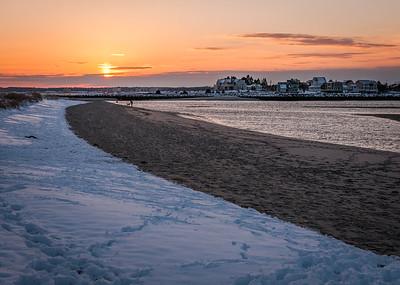 Winter Sunset, Ferry Beach