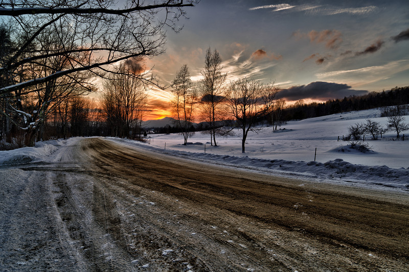 Sunset in the Hollow - Waterbury, VT