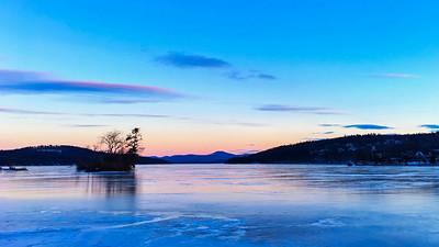 Winter Dawn on Lake Winnipesaukee