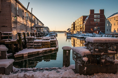 Custom House Wharf in Winter