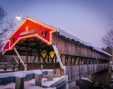 Honeymoon Bridge at Dusk, Jackson NH