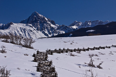 Mt Sneffels viewed from atop Dallas Divide
