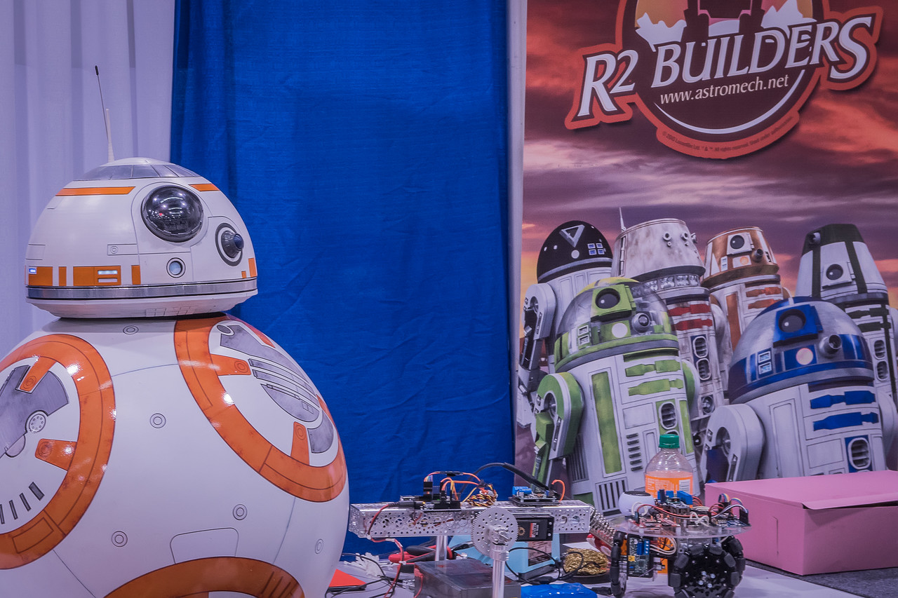 BB-8 at the R2 Builders booth at WonderCon Anaheim