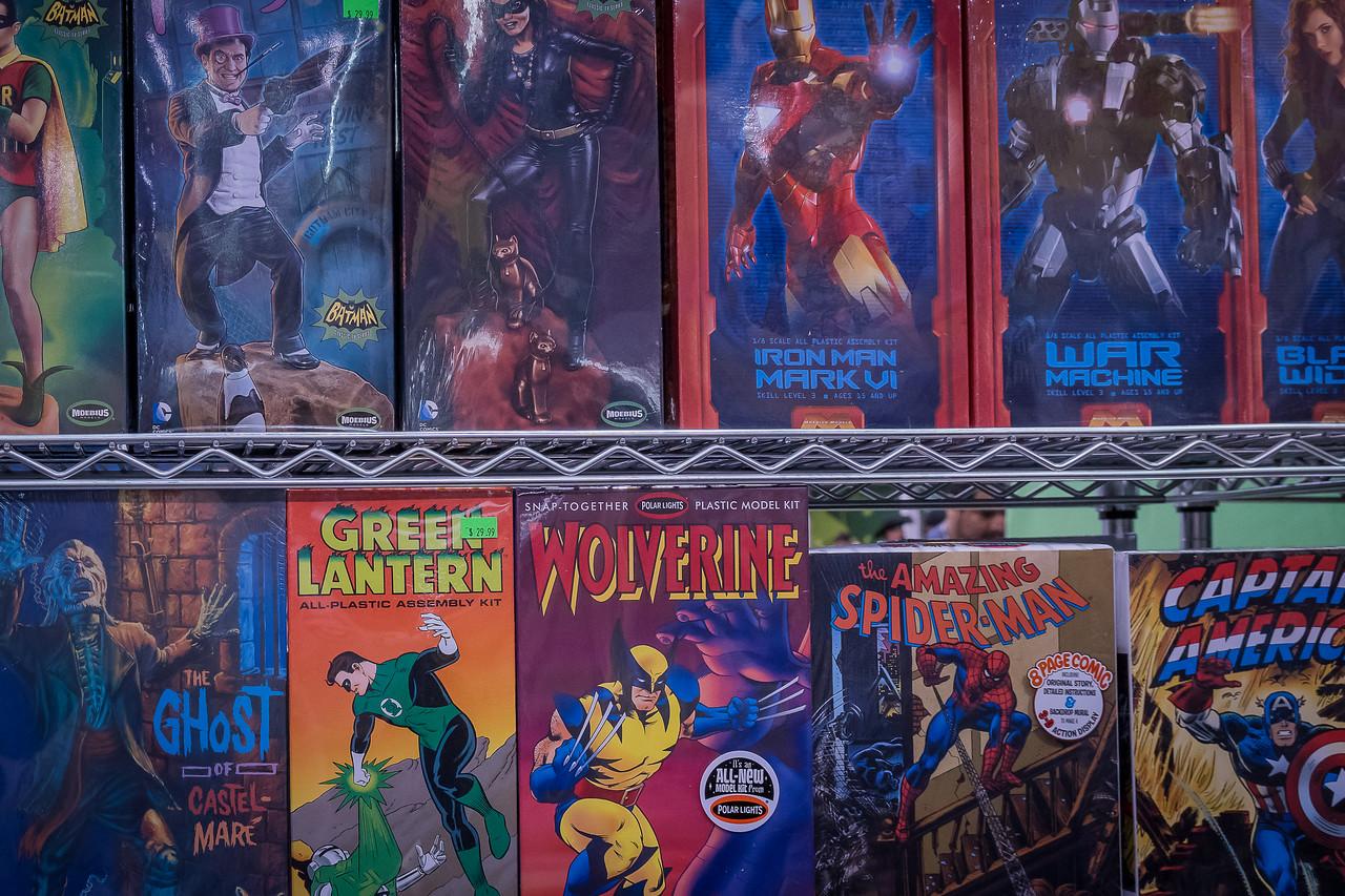 Plastic model kits on sale at WonderCon Anaheim 2017
