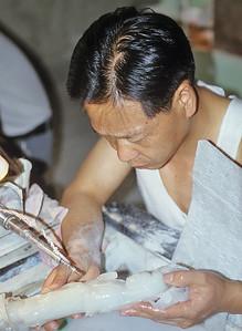 Jade processing, Hotan, Xinjiang, Silk Road