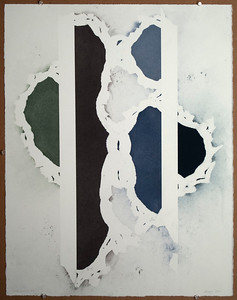 Grey Ladies No. 6 2010, Paster on Paper, 27X21 inches