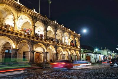 Full moon over Antigua, Guatemala