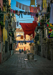 """Wash Day""  Laundry air drying in the alley ways of Venice, Italy."
