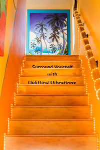"""""""Uplifting Vibrations""""  The colorful and inviting entrance to the Grant Pecoff Art Gallery in Little Italy, San Diego, California."""
