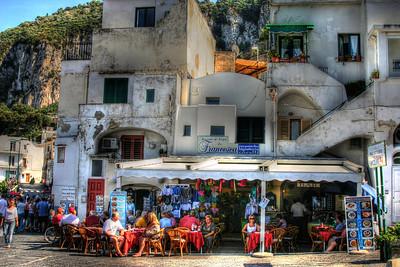 Restaurante Francesca on the island of Capri. Capri Italy.