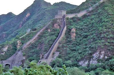 The Great Wall as it appears from the Transmongolian railway, China