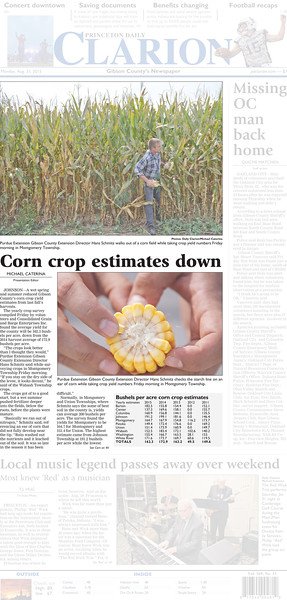 Corn crop estimates down