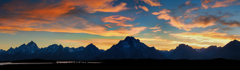 Sunset Panorama, Grand Teton National Park, Wyoming