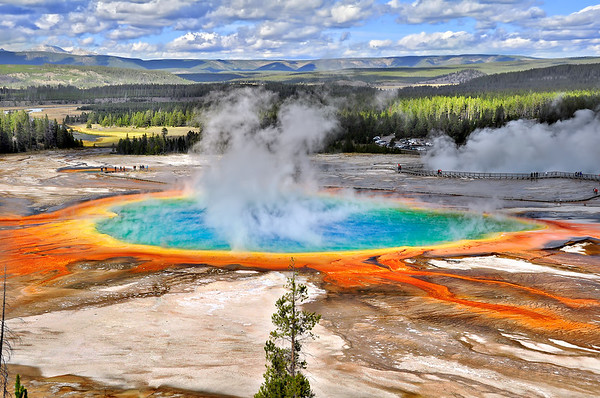 Grand prismatic spring @ Yellowstone national park