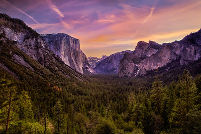 Sunrise over Yosemite