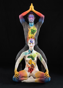 Seven Chakras - Bodypainters: Brenda Leach and Francisco Ramirez.  Models: Jason and Nadine