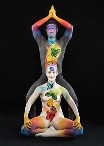 Seven Chakras - Bodypainters: Brenda Leach and Francisco Ramirez.  Models: Jason and Nadine