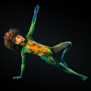 Solar Plexus Chakra - Bodypaint: Anthony Duran,  Model: Tiffany