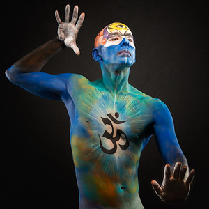 Third Eye Chakra - Bodypaint:  Francisco Ramirez.  Model: Jessie