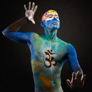 Third Eye Chakra - Bodypaint:  Francisco Ramirez.  Model: Jessie