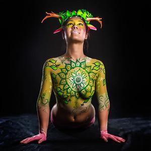 Heart Chakra - Bodypaint: Jeshka Yurash, Model: Lynn