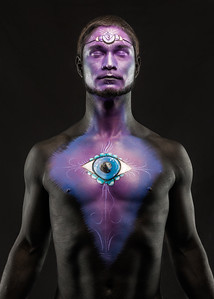 Third Eye Chakra - Bodypaint:  Ming Mahasintunan.  Model: Jason
