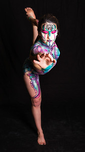 Throat Chakra - Bodypaint:  Rachel Deboer.  Model: Sierra