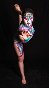 Throat Chakra - Bodypaint:  Rachel Deboer.  Model: Sierra