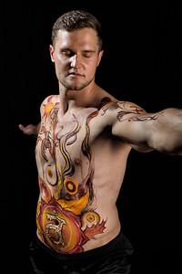 Sacral Chakra - Bodypaint: Valerie Daft, Model: Sean L.