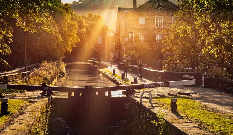 Leeds Liverpool Canal at Hebden Bridge.