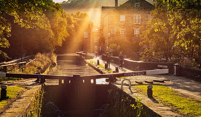 Leeds Liverpool Canal at Hebden Bridge.