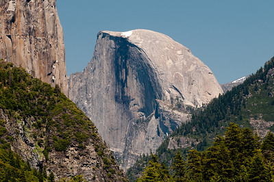 A telephoto look at Half Dome from far away