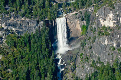 Vernal Falls as seen from Glacier Point