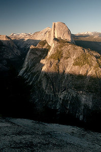 The sun sets on Half Dome
