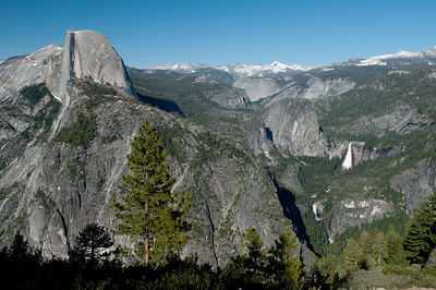 Half Dome, Vernal and Nevada Falls