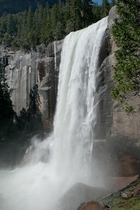 The base of Vernal Falls