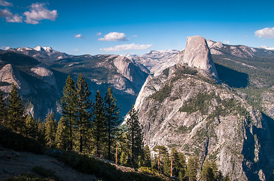 View from Glacier Point, Look East to Half Dome