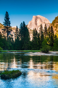 Half Dome, Late Afternoon from the Merced River
