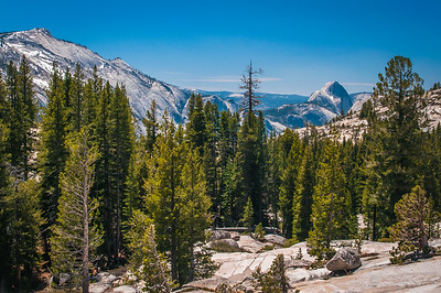 View from Olmsted Point on Tioga Pass Looking West to Half Dome