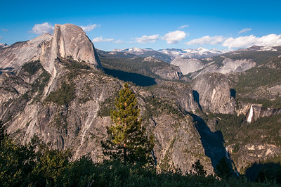 View from Glacier Point with Nevada Falls (far right)