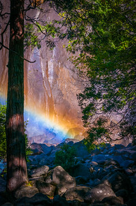 Rainbow at Lower Yosemite Falls