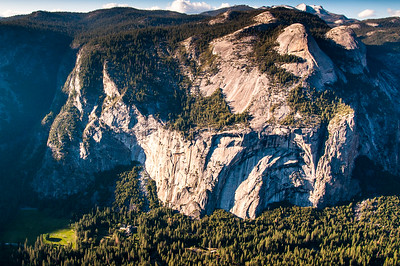 3,000 ft view of Ahwanee Meadow (lower left corner) from Glacier Point