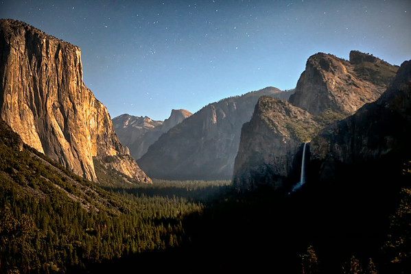Full Moon over Yosemite Valley