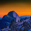 Half Dome At Sunset From Olmsted Point