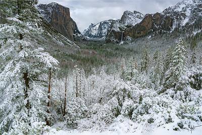 Snowfall, Tunnel View, Yosemite