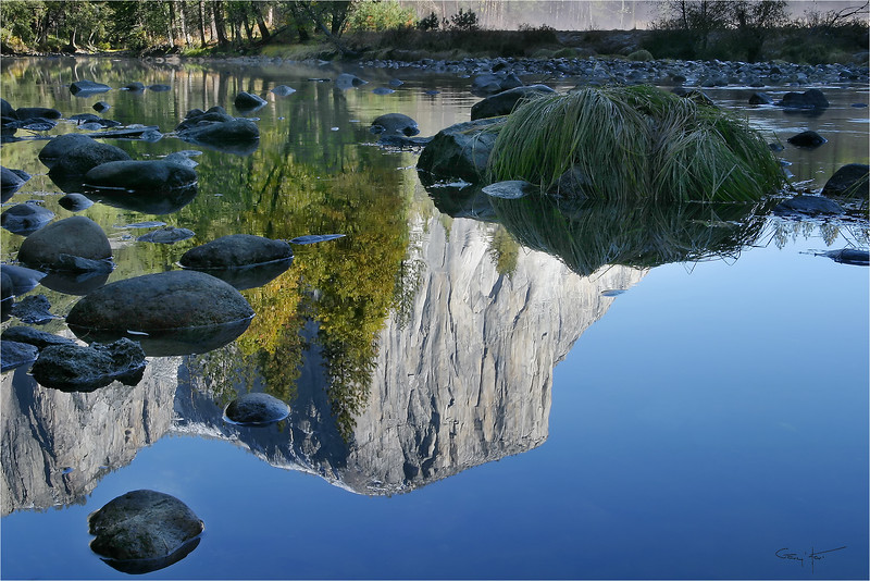 El Capitan Reflection, Valley View, Yosemite