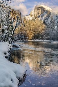 Frozen Reflection, Half Dome, Yosemite