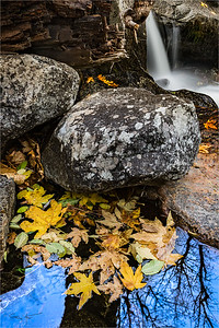 Autumn Pool and Cascade, Bridalveil Creek, Yosemite