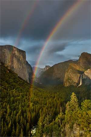 Double Rainbow, Tunnel View, Yosemite