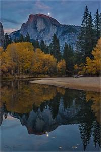 Autumn Moonrise, Half Dome, Yosemite